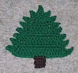 Christmas Tree Coaster by Crochet 'N' More