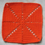 Citrus Spray Afghan Square by Ambassador Crochet