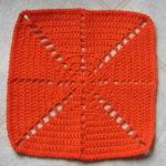 Citrus Spray Afghan Square by Ambassador Crochet