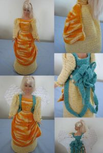 Barbie Harvest Angel by Donna Collinsworth of Donna's Crochet Designs