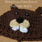 Preemie/Newborn Beaver Hats by Cream Of The Crop Crochet