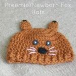 Preemie/Newborn Fox Hats by Cream Of The Crop Crochet