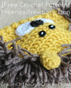 Preemie/Newborn Lion Hats by Cream Of The Crop Crochet