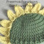 Preemie/Newborn Sunflower Hats by Cream Of The Crop Crochet