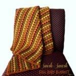 Swish-Swash Fall Baby Blanket by Rhelena of CrochetN'Crafts
