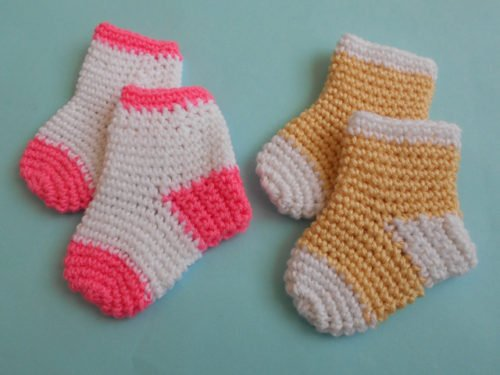 Crochet Socks Pattern For Babies : Baby Socks/Slippers by aamragul of Crochet/Crosia ...