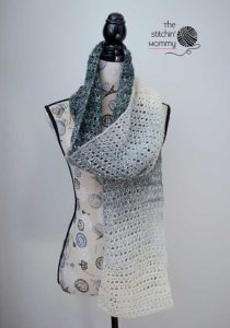Grey Skies Scarf by The Stitchin' Mommy