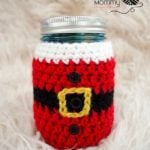 Little Santa Mason Jar Cozy by The Stitchin' Mommy