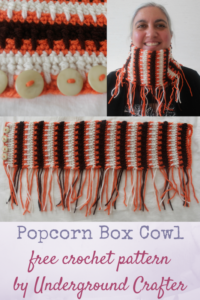 Popcorn Box Cowl by Marie Segares/Underground Crafter