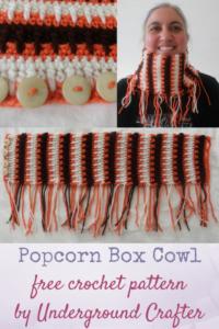 Popcorn Box Cowl by Marie Segares/Underground Crafter