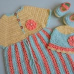 Crochet Stripe Baby Frock / Dress by aamargul of Crochet/Crosia Home