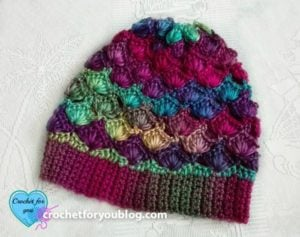 Shell N Picots Slouch Hat by Erangi Udeshika of Crochet For You