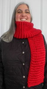 Tunisian Extended Knit Scarf by Marie Segares/Underground Crafter
