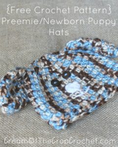 Preemie/Newborn Puppy Hats by Cream Of The Crop Crochet