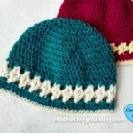 Crystal Drops Beanie by Erangi Udeshika of Crochet For You