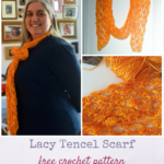 Lacy Tencel Scarf by Marie Segares/Underground Crafter