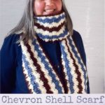 Chevron Shell Scarf by Marie Segares/Underground Crafter