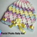 Pastel Peaks Crochet Baby Hat by Erangi Udeshika of Crochet For You