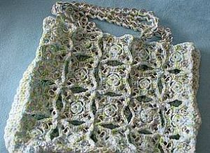 Pop Tab Tote by Donna Collinsworth of Donna's Crochet Designs