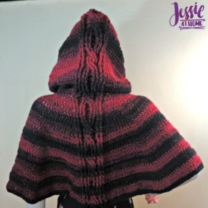 Hooded Cabled Cape by Jessie At Home
