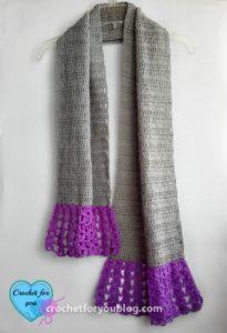 Simple Flared Scarf by Erangi Udeshika of Crochet For You