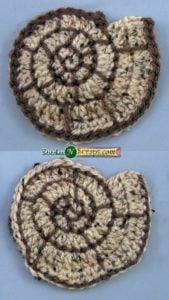 Spiral Seashell Motif by Stitches 'N' Scraps