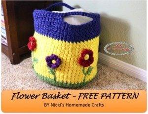 Flower Basket by Nicole Riley of Nicki's Homemade Crafts
