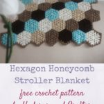 Hexagon Honeycomb Stroller Blanket by Marie Segares/Underground Crafter