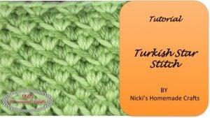 Turkish Star Stitch Tutorial by Nicole Riley of Nicki's Homemade Crafts