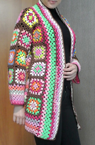 Granny Squares Cardigan Pattern By Jane Green Of Beautiful