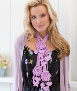 Floral Necklace by Bendy Carter for Red Heart
