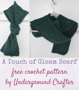 A Touch of Gleam Scarf by Marie Segares/Underground Crafter