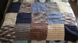 Bernat Color Blocked HDC Lap Blanket by Heather's Crochet Designs