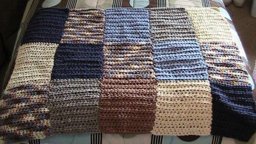 Bernat Color Blocked Hdc Lap Blanket By Heather S Crochet