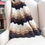 Gentle Gradient Ripple Blanket by Marie Segares/Underground Crafter