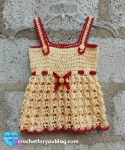 Honey Bliss Baby Sundress by Erangi Udeshika of Crochet For You