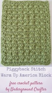 Piggyback Stitch Warm Up America Block By Marie Segares/Underground Crafter