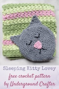 Sleeping Kitty Lovey by Marie Segares/Underground Crafter