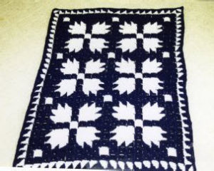 Bears Paw Block Afghan by Donna's Crochet Designs