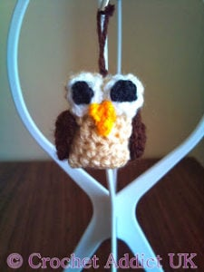 Owl Charm Decoration by Crochet Addict