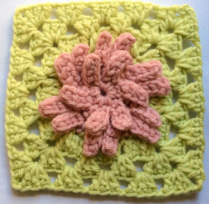 Aster Flower Granny Square by Marie Segares/Underground Crafter