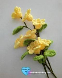 Crochet 3D flower bouquet by Erangi Udeshika