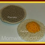 Pancakes and Eggs by Mom With a Hook for Crochet Addict