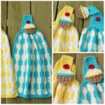 Cupcake Kitchen Towel by Crochet Dreamz