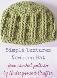 Simple Textures Newborn Hat by Marie Segares/Underground Crafter