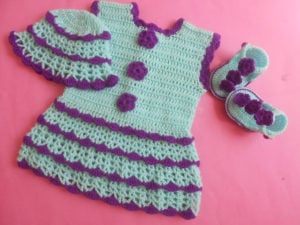 crochet baby summer dress by aamragul