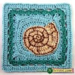 Spiral Seashell Square by Stitches 'N' Scraps