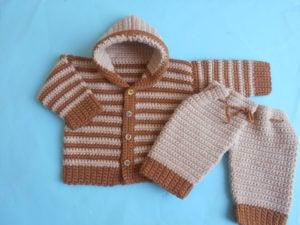 Baby Jacket and Pants by Aamragul of Crosia Home