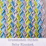 Crosshatch Stitch Baby Blanket by Marie Segares/Underground Crafter