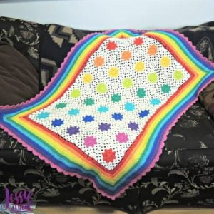 Rainbow Droplets Babyghan by Jessie at Home